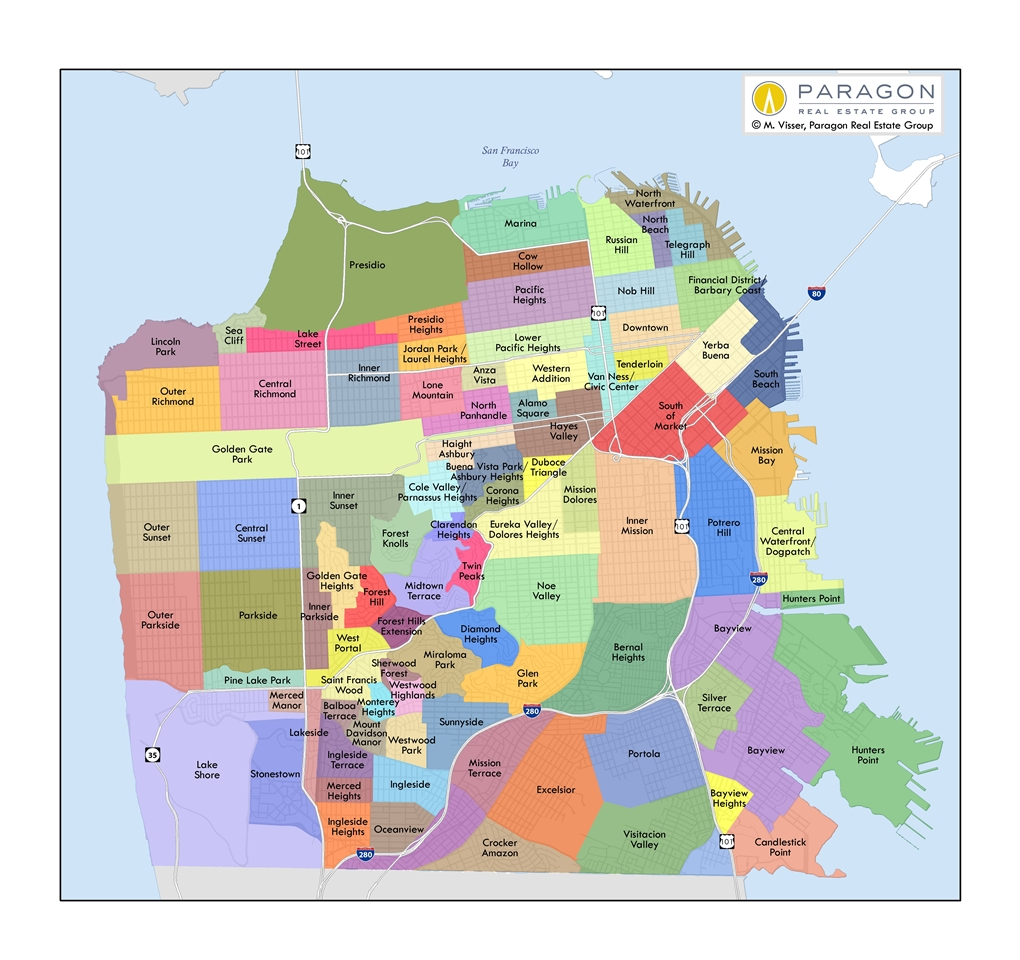 sf neighborhoods map  my blog - updated
